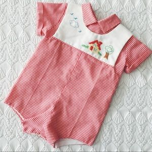 Other - Vintage two piece baby romper and shirt💖